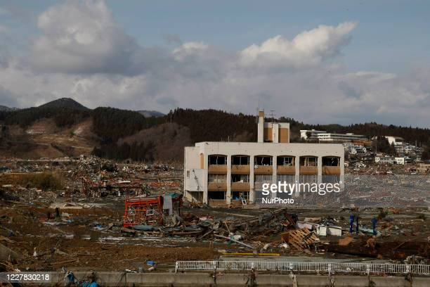 March 17, 2011-Sanriku Minami, Japan-A View of Tsunami hit the destroyed city in Sanriku Minami, north east of Tokyo on March 17 Japan. On 11 March...