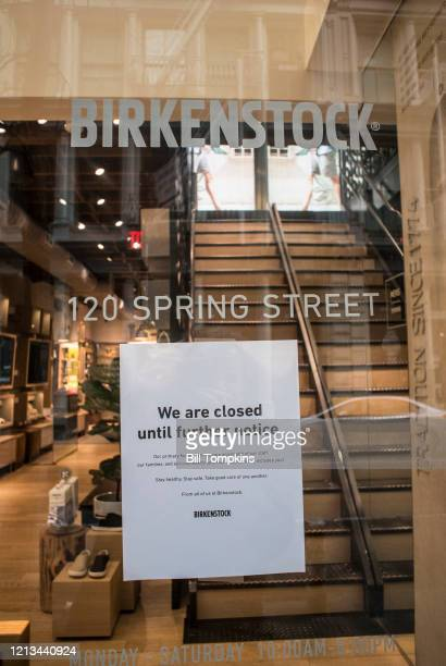 March 18 MANDATORY CREDIT Bill Tompkins/Getty Images Birkenstock store closing due to the coronavirus COVID-19 pandemic on March 18, 2020 in New York...