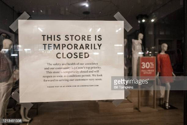 NEW YORK NY March 18 MANDATORY CREDIT Bill Tompkins/Getty Images J Crew store closing due to the coronavirus COVID19 pandemic on March 18 2020 in New...