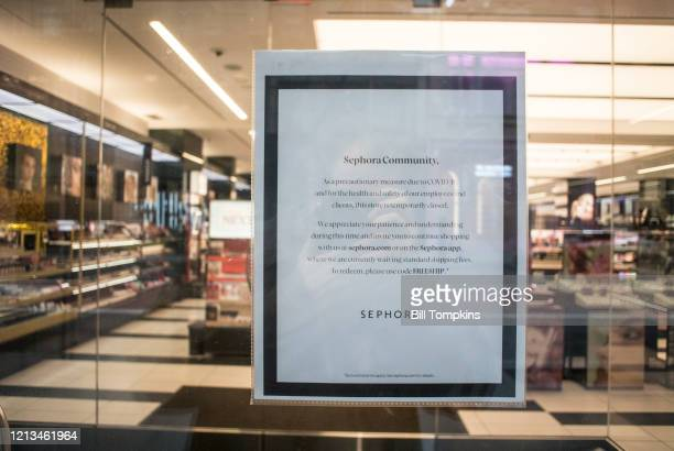 March 18 MANDATORY CREDIT Bill Tompkins/Getty Images Sephora store closing due to the coronavirus COVID-19 pandemic on March 18, 2020 in New York...