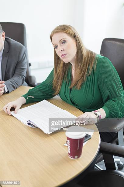 ENGLAND March 18th 2016 Angela Rayner Labour MP for AshtonunderLyne Angela Rayner meeting with representatives from the Teachers Trade Unions in the...