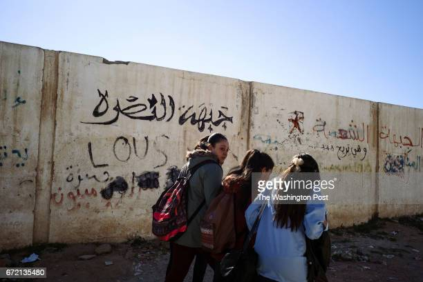 A writing on a wall of a local school reads Jabat al Nusra Kasserine is an impoverished city in western Tunisia The high unemployment rate and the...