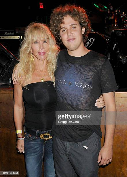 March 19 2009 West Hollywood Ca Cindy Landon and son Sean Landon Benefit Concert for Voices of Uganda Held at the Key Club