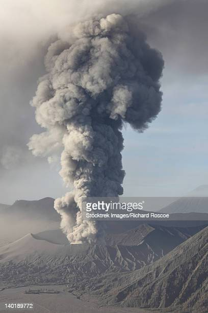 march 19, 2011 - eruption of ash cloud from mount bromo volcano, tengger caldera, java, indonesia. - volcanic activity stock pictures, royalty-free photos & images