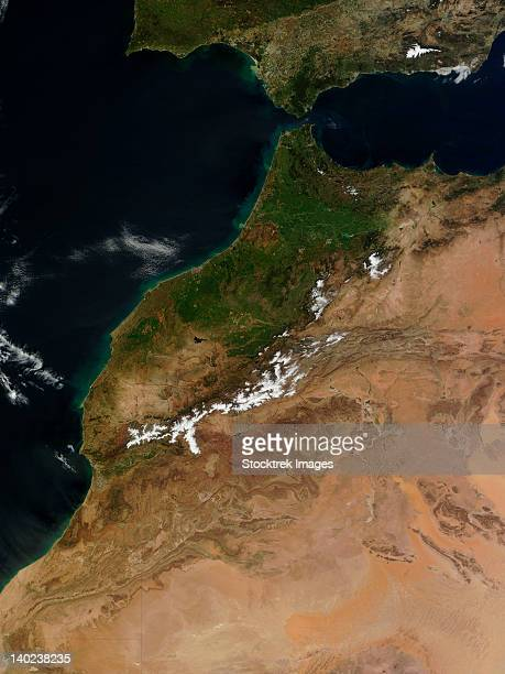 March 19, 2011 - Satellite view of Morocco.