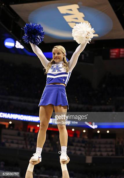 Kentucky Wildcats cheerleader during a secondround NCAA Tournament game between the Hampton University Pirates and the University of Kentucky...