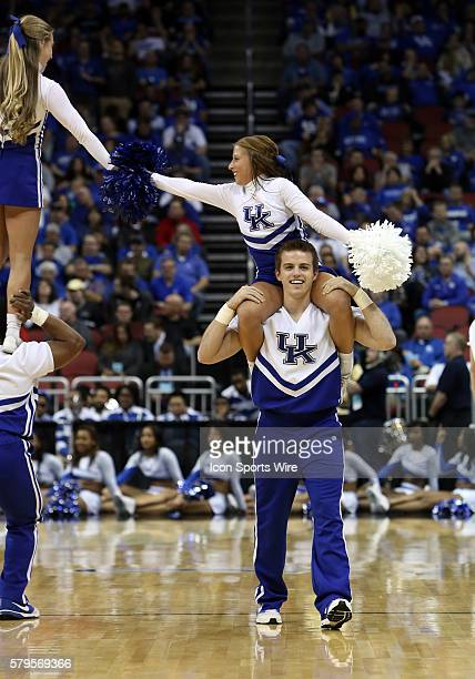 Kentucky Wildcats cheerleaders during a secondround NCAA Tournament game between the Hampton University Pirates and the University of Kentucky...