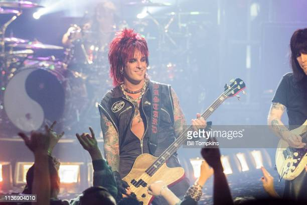 Nikki Sixx of Motley Crue performs on July 151999 in New York City