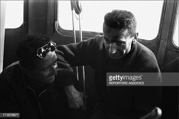 March 19 and 20th 1957 a forwarding take down the bodies of mountaineers Jean Vincendon and Francois Henry Mountain guides in Chamonix France
