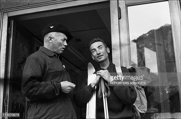 March 19 and 20th 1957 a forwarding take down the bodies of mountaineers Jean Vincendon and Francois Henry Left squadron leader Legall in Chamonix...