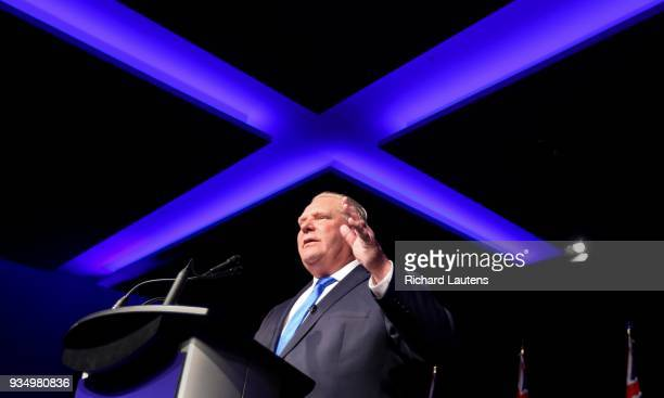 TORONTO ON March 19 X marks the spot as Ford speaks Ontario PC Leader Doug Ford hosted a PC Unity Rally on Monday at the Toronto Congress Centre He...