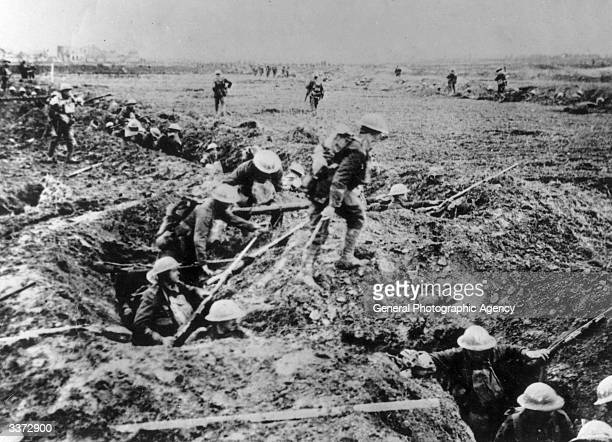 British infantry troops on the offensive near Arras