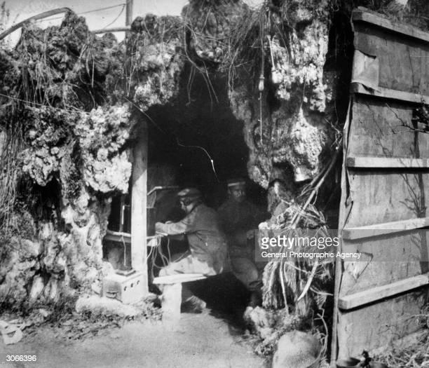 German wireless operators in a dugout near Amiens