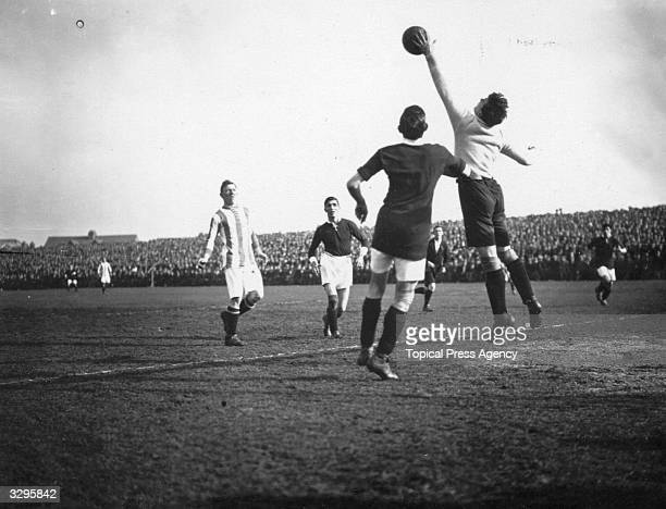 Goalkeeper S Randall stretches to make a save during a match between Swindon Town FC and Burnley FC