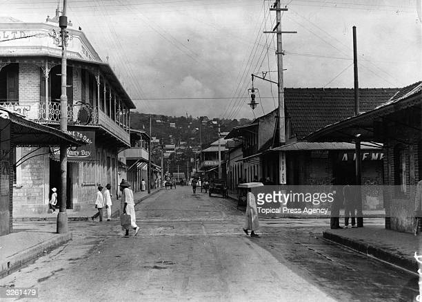 Duke Street and Piccadilly Hill in Port of Spain, Trinidad.