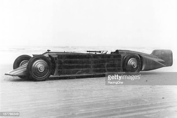 Sir Henry Segrave set his final of three world land speed records on Daytona Beach on March 11 with a speed of 231446 mph with this Napierpowered car...