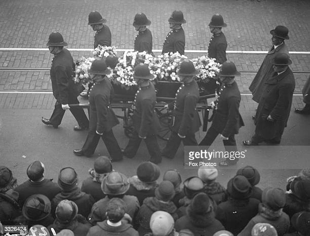 The funeral procession of Police Constable Ford on Kennington Road London