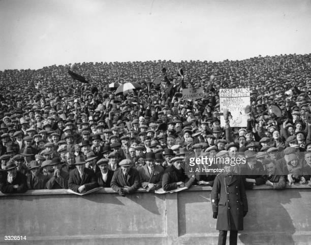 The crowd at the FA Cup semifinal between Arsenal and Hull City at Elland Road