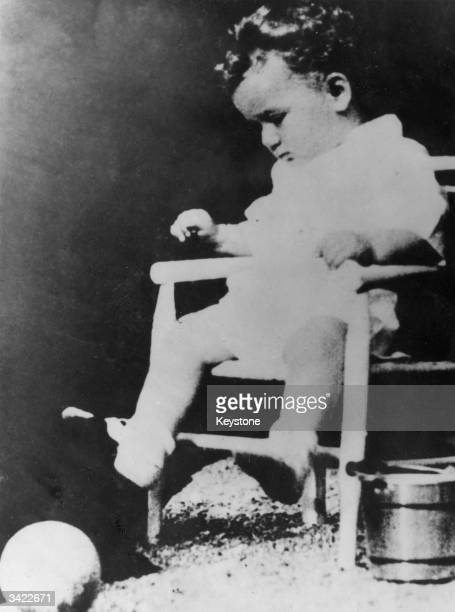 Charles Lindbergh, the baby son of the famous aviator who was kidnapped and later found murdered.