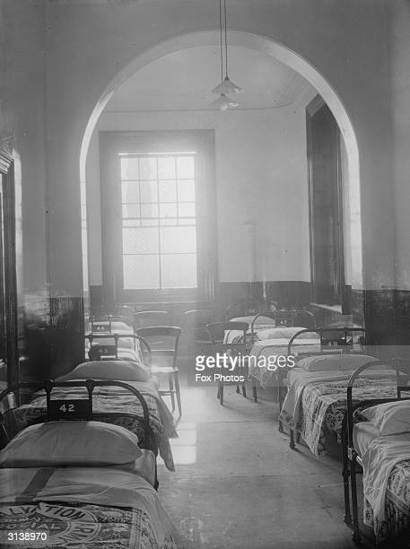 Dormitory in a Salvation Army hostel in Cardiff