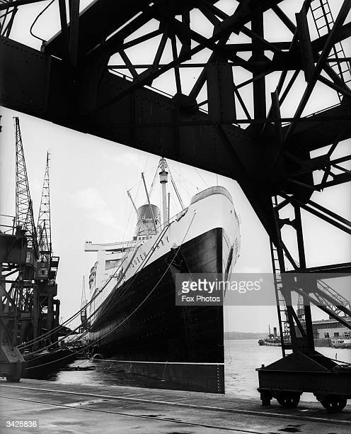 The SS Queen Mary in dock at Southampton