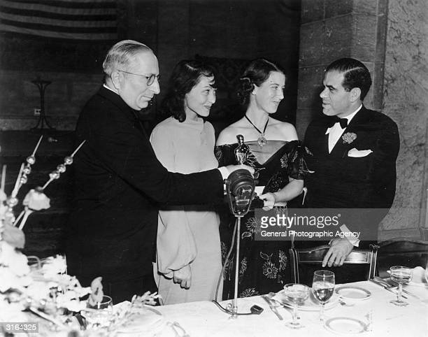 Luise Rainer at an Oscar Ceremony with Louis Mayer Louise Tracy wife of Spencer Tracy and Frank Capra