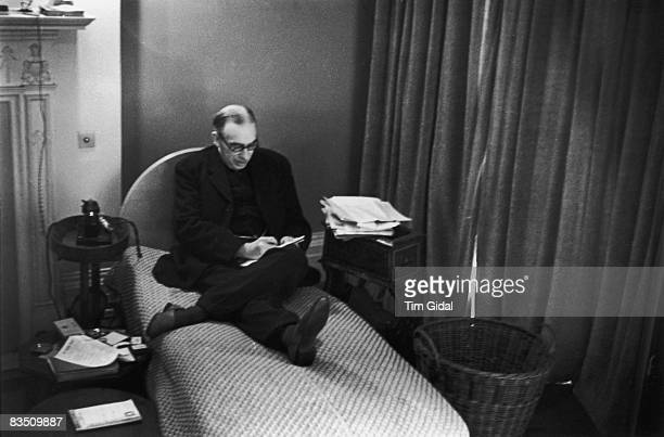 English economist John Maynard Keynes in his study at Bloomsbury, London. As the 'unofficial economic adviser to Great Britain', he has formulated a...