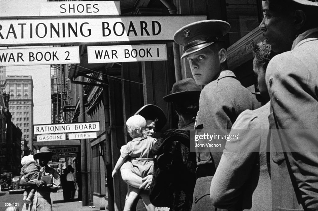 A line at a rationing board in New Orleans, Louisiana.