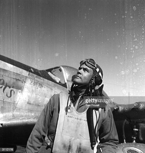 Colonel Benjamin O Davis the leader of the 332nd Fighter pilot Squadron the only all AfricanAmerican unit in the American forces at an airbase in...