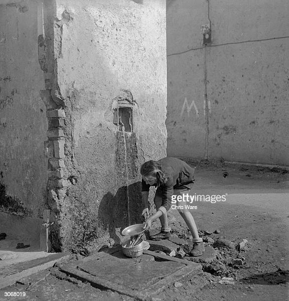 In post war Velletri basic facilities for Dispossed Persons and orphaned or abandoned children are provided by the United Nations Relief and...