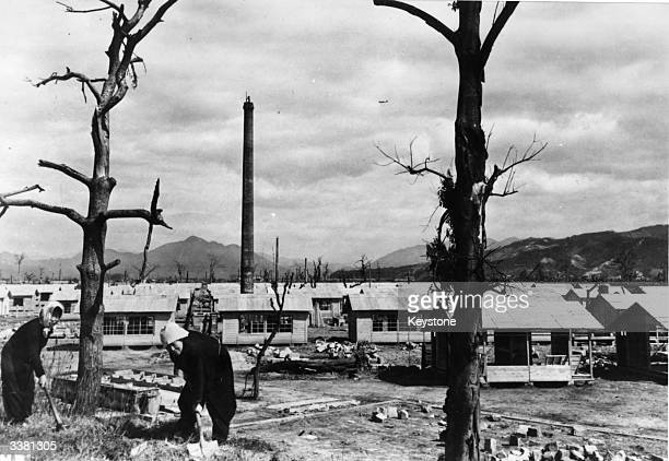 New homes are built in Hiroshima to replace those destroyed by the atomic bomb dropped on the city on the 6th August 1945.