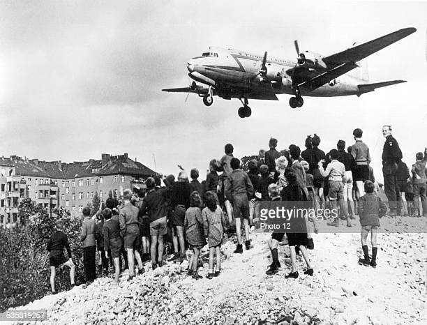 March 1948 During the blockade of Berlin the supply of the east city ensured by American planes