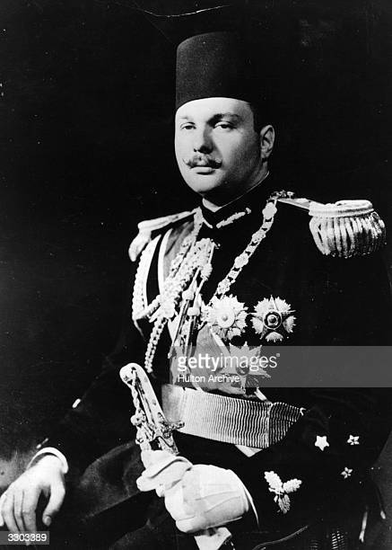 Farouk I king of Egypt from 1937 to 1952 in dress uniform