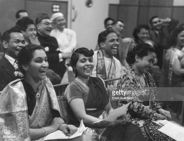 Ceylonese schoolteacher from Malaya P Rajaratnum, science teacher Sen Gupta from Calcutta and assistant cultural attache at the Indonesian Embassy...