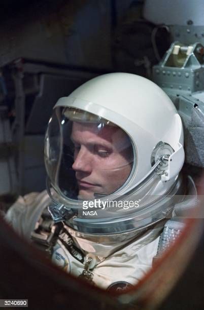 American astronaut Neil Armstrong on the oneday Gemini VIII mission Three years later Armstrong became the first man to set foot on the moon during...
