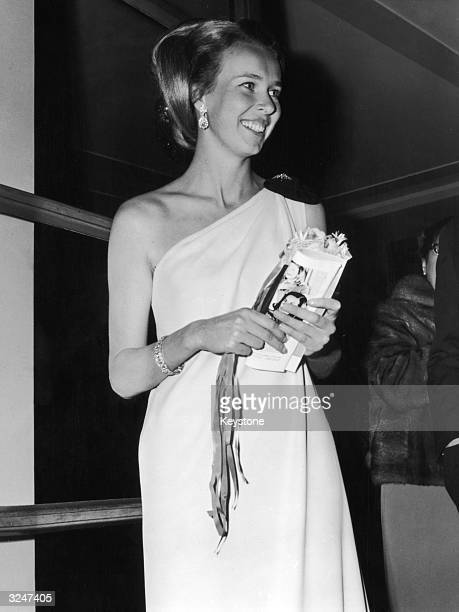 Princess Maria Gabriella of Savoy, daughter of exiled King Umberto II, attends a gala performance of a Rudolf Nureyev ballet at the opera house in...