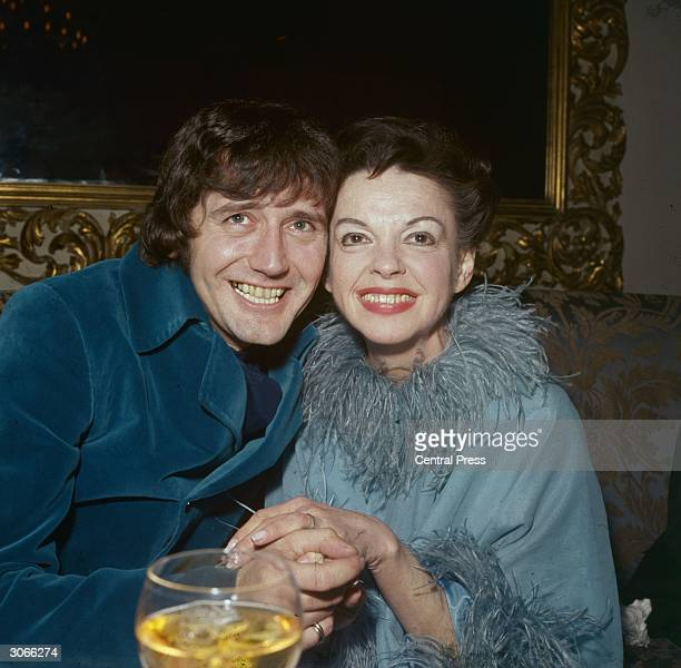 American film actress Judy Garland with her husband Mickey Deans after their wedding at Chelsea Register Office in London