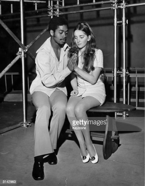 Student teachers, Dereck Tapper and Scilla Nicholls in a rehearsal for a production of 'Romeo and Juliet' at St Luke's Teacher Training College in...