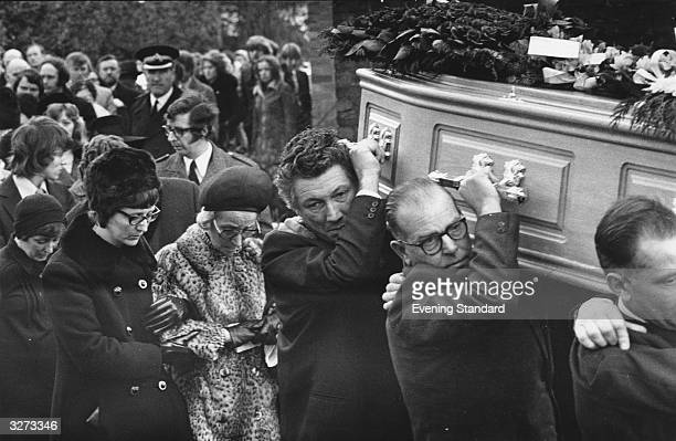 Mourners at the funeral of Lesley Whittle who was murdered by serial killer Donald Neilson aka The Black Panther