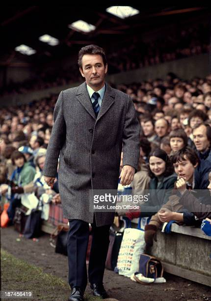 March 1979 Football League Division One - Ipswich Town v Nottingham Forest, Forest manager Brian Clough walks to the dugout at Portman Road wearing...