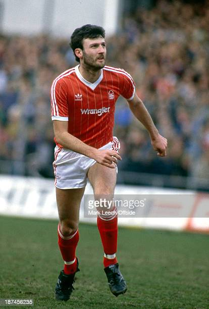 March 1984 Football League Division One - Notts County v Nottingham Forest, Forest striker Garry Birtles.