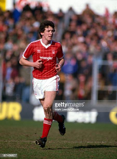 March 1984 Football League Division One - Notts County v Nottingham Forest, Peter Davenport of Forest.