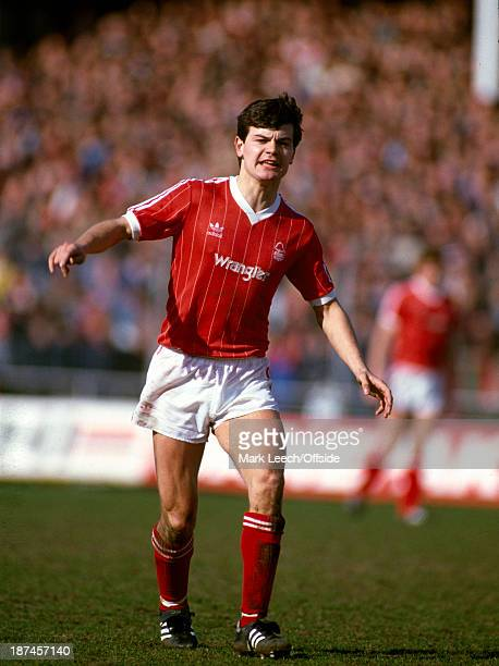 March 1984 Football League Division One - Notts County v Nottingham Forest, Steve Hodge of Forest.