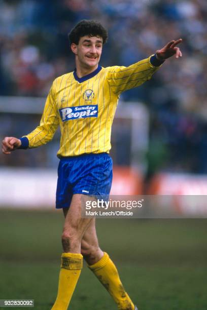 March 1985 Oxford, Football League Division One - Oxford United v Manchester City - John Aldridge of Oxford