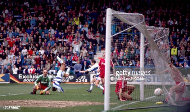 11 March 1990 FA Cup Queens Park Rangers v Liverpool Ray Wilkins of QPR scores a goal against Liverpool