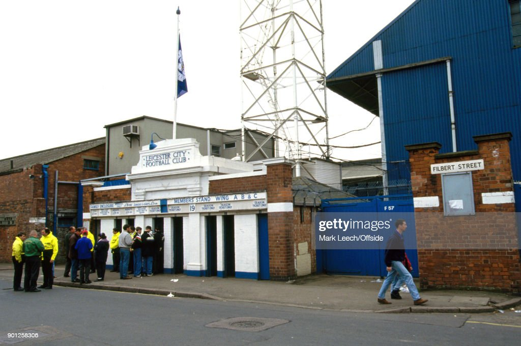 27 March 1993 Football League Division One - Leicester City v Charlton Athletic; exterior view of Filbert Street Stadium (Photo by Mark Leech/Getty Images).
