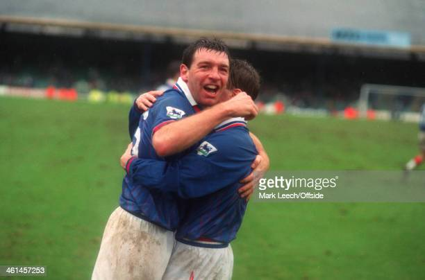 12 March 1994 FA Cup Quarter Final Bolton Wanderers v Oldham Athletic Rick Holden of Oldham celebrates victory