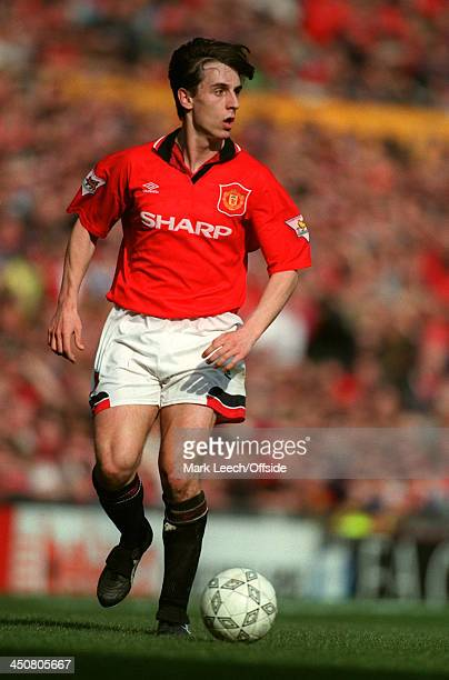 March 1995 FA Cup 6th Round Football-, Manchester United v Queens Park Rangers , Gary Neville of United.