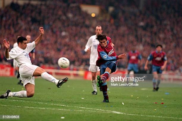 March 1996 - Coca Cola League Cup Final - Aston Villa v Leeds United - Savo Milosevic of Aston Villa scores a screamer to give the Villa the lead.