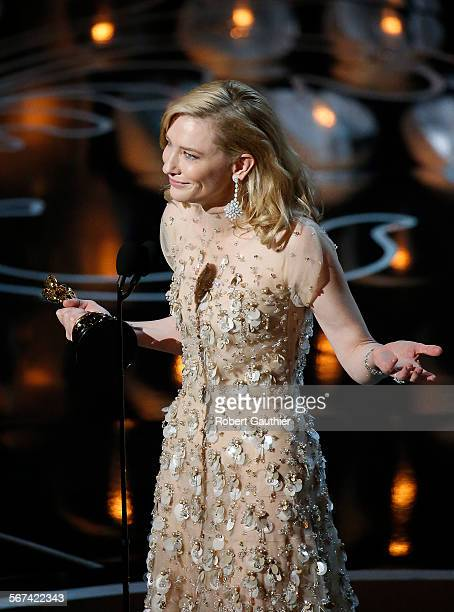 HOLLYWOOD CA – March 2 2014  Cate Blanchett won Best Actress for BLUE JASMINE during the telecast of the 86th Annual Academy Awards on...